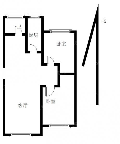 青岛我爱我家翠海宜居,精装大两居,全明户型,南北通透,诚心出售第7张图