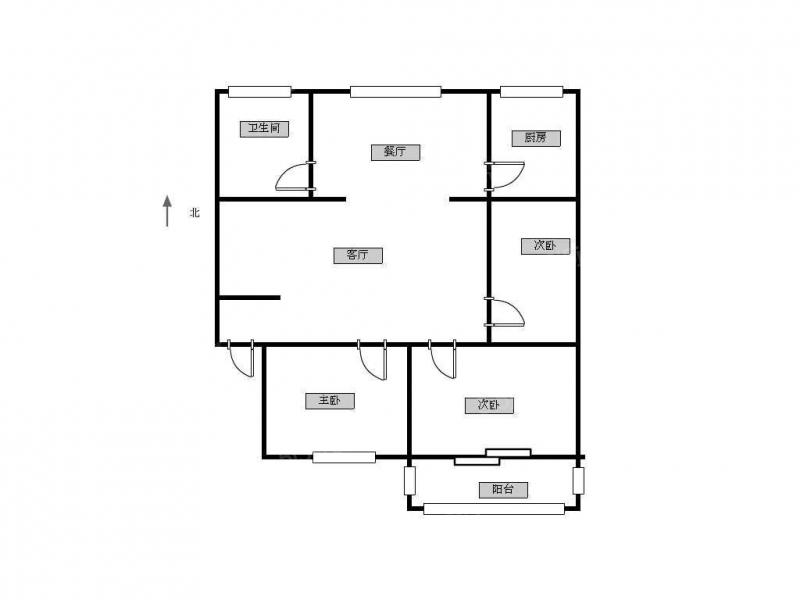 常州我爱我家丹丽花园三楼精装三室 现浇房 阳光花园 春风 凤凰城旁第9张图