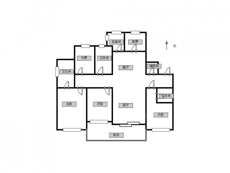 常州我爱我家精装四室新城首,府,小区环境优美,西实小,高楼层采光好第14张图