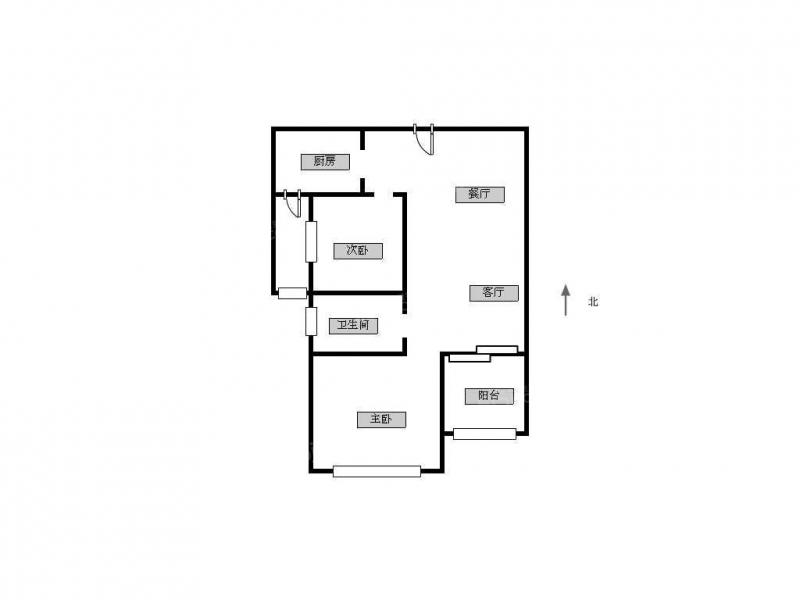 常州我爱我家凯悦中心小2房地铁口小户型第11张图