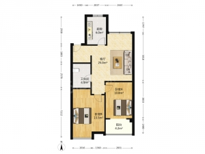 青岛我爱我家香缇树 2室1厅1卫 3200元/月 精装修 95平