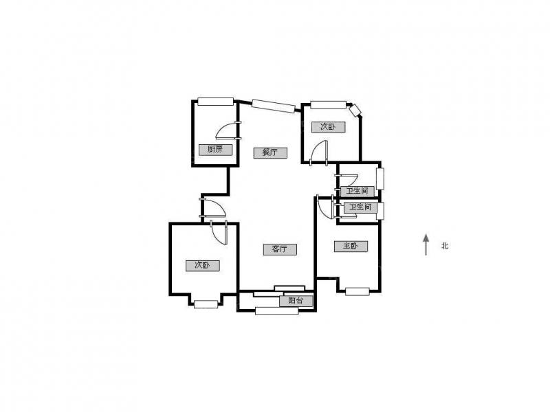 常州我爱我家田家炳 新城逸境旁 天翼御品园 精装修三房两卫 看房方便第12张图