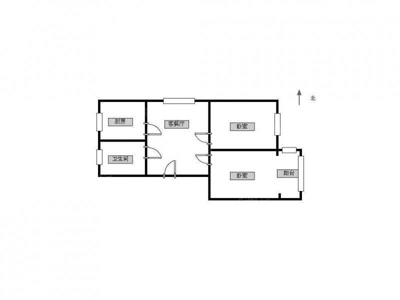常州我爱我家荷花池公寓的新出两室,小面积总价低的,方便看,觅小北郊第13张图